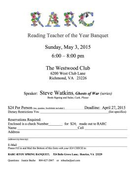 RTOY   May 3, 2015