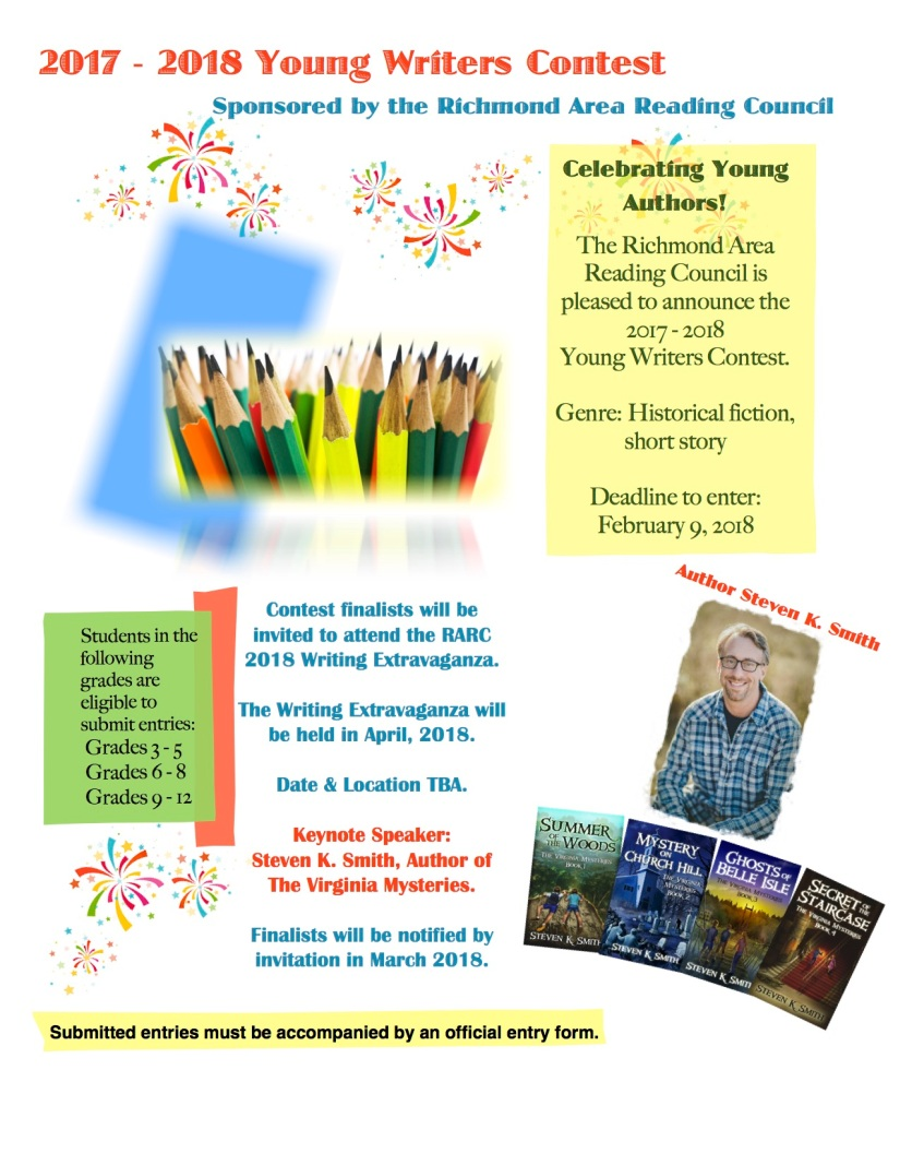 2017 - 2018 Young Writers Contest Flyer and Entry Form